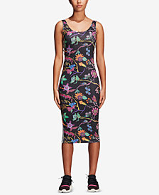 adidas Originals Garden Floral-Print Tank Dress
