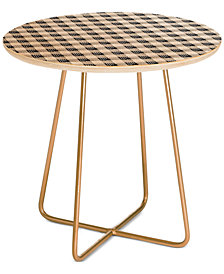 Deny Designs Anthology of Pattern Seville Gingham Black Side Table