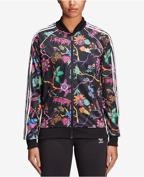 165e6e63067 adidas Garden Print Track Jacket   Reviews - Jackets   Blazers ...