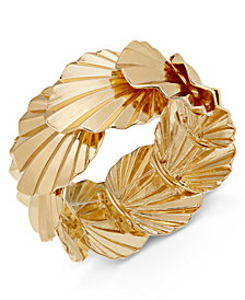Thalia Sodi Gold-Tone Palm Leaf Stretch Bracelet, Created for Macy's