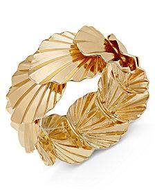 Thalia Sodi Gold-Tone Palm Leaf Stretch Bracelet, Created for Macy's