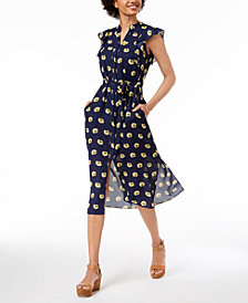 Maison Jules Flutter-Sleeve Midi Sheath Dress, Created for Macy's