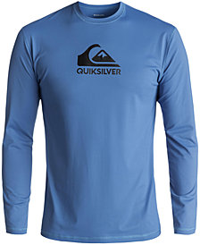 Quiksilver Men's Solid Streak Logo-Print Rash Guard