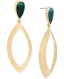 Robert Lee Morris Soho Gold-Tone & Patina Drop Earrings
