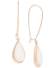 Robert Lee Morris Soho Patina/Imitation Mother-of-Pearl Drop Earrings