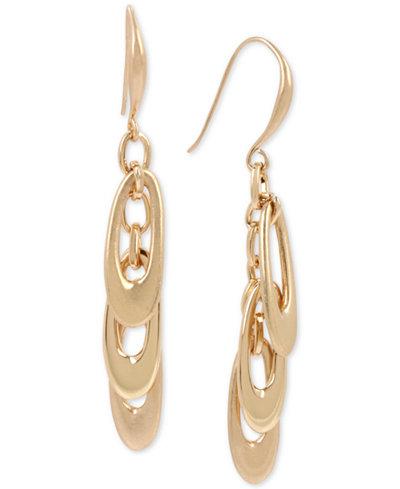 Robert Lee Morris Soho Gold-Tone Shaky Loop Drop Earrings