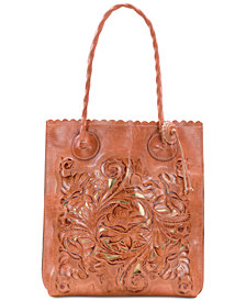 Patricia Nash Floral Tooled Tote