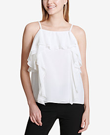Calvin Klein Ruffled-Trim Top