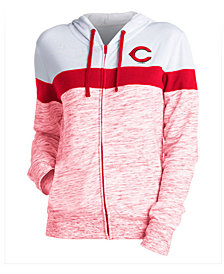5th & Ocean Women's Cincinnati Reds Space Dye Hoodie