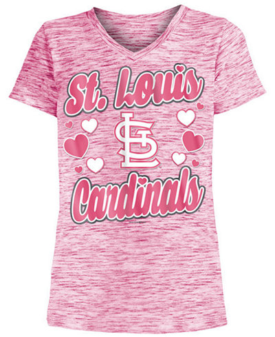 5th & Ocean St. Louis Cardinals Spacedye T-Shirt, Girls (4-16)