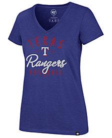 '47 Brand Women's Texas Rangers Ultra Rival Metallic Script T-Shirt