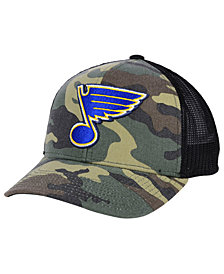 adidas St. Louis Blues Camo Trucker Cap