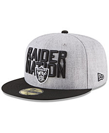 New Era Boys' Oakland Raiders Draft 59FIFTY FITTED Cap