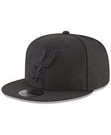 San Antonio Spurs Blackout 59FIFTY Fitted Cap