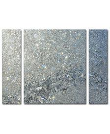 Kurt Shaffer 'Frost Pattern Sun Stars' 3-Pc. Canvas Art Print Set