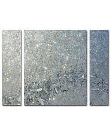 "Kurt Shaffer 'Frost Pattern Sun Stars' Multi Panel Art Set Large - 25"" x 30"" x 2"""