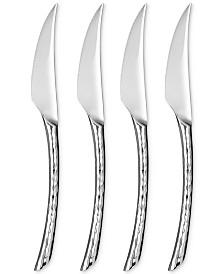Argent Orfèvres  Hampton Forge  Olivia Hammered Steak Knives, Set of 4