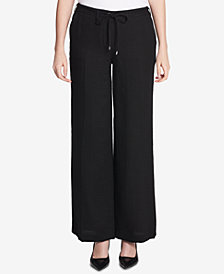 Calvin Klein Tie-Waist Tweed Pants