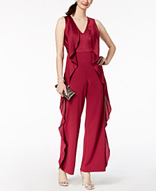 Adrianna Papell Cascading Ruffle Jumpsuit