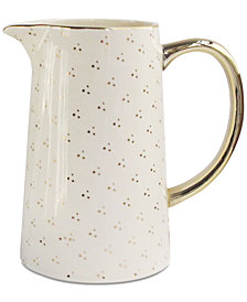 CLOSEOUT! Jay Imports Spring Soiree White & Gold-Tone Pitcher, Created for Macy's