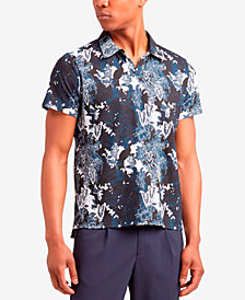 Kenneth Cole Men's Regular Fit Printed Polo