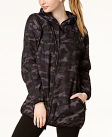 Calvin Klein Performance Camo-Print Packable Hooded Jacket