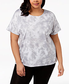 Ideology Plus Size Crisscross Back Top, Created for Macy's