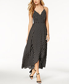 Bardot Striped Wrap Maxi Dress