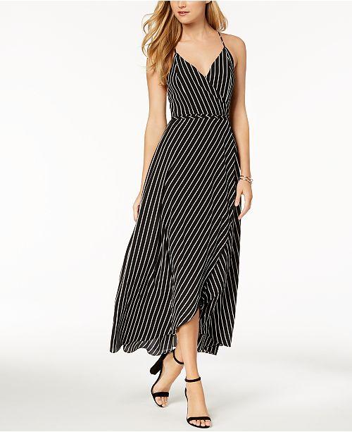 3366fa12c7 Bardot Striped Wrap Maxi Dress   Reviews - Dresses - Women - Macy s
