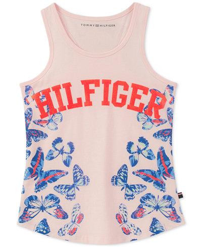 Tommy Hilfiger Butterflies Cotton Tank Top, Big Girls