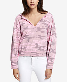 Sanctuary Breslin Cotton Camo-Print Sweatshirt