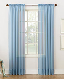 "Lichtenberg No. 918 Sheer Voile 59"" x 84"" Rod Pocket Curtain Panel"