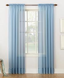 """Lichtenberg No. 918 Sheer Voile 59"""" x 84"""" Rod Pocket Curtain Panel"""