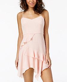 B Darlin Juniors' Chiffon Ruffle Slip Dress