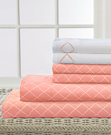 Elite Home Revina Printed 6-Pc. Queen Sheet Set