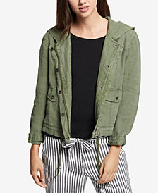 Sanctuary Nova Linen Hooded Jacket
