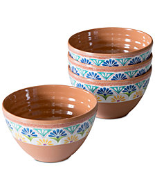 TarHong Rio Medallion Dip Bowls, Set of 4