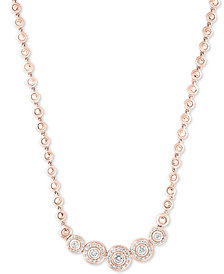 "Pavé Classica by EFFY® Diamond Bezel 18"" Collar Necklace (9/10 ct. t.w.)"