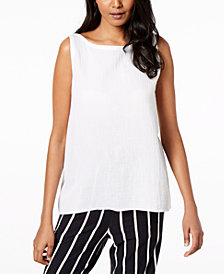 Eileen Fisher Organic Cotton Swing Top, Regular & Petite
