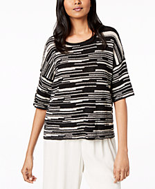Eileen Fisher Organic Printed Sweater