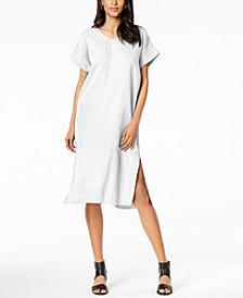 Eileen Fisher Organic Cotton V-Neck Shift Dress