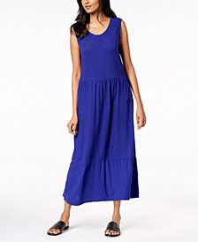 Eileen Fisher Organic Cotton Blend Drop-Waist Maxi Dress, Regular & Petite