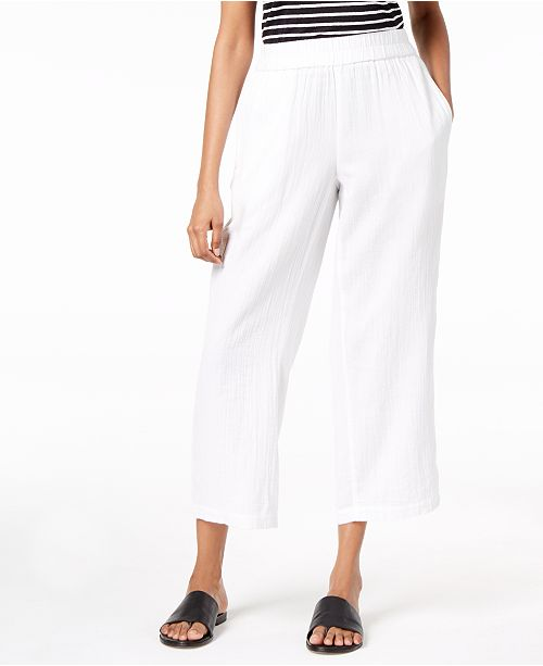 Pants Organic Straight White Fisher Cotton Regular Eileen Petite Leg amp; Pw7XxZn6q