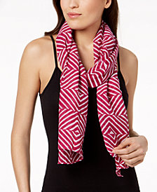 Eileen Fisher Organic Cotton Geo-Print Scarf
