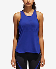 adidas Performer Mesh-Back Basketball Tank Top