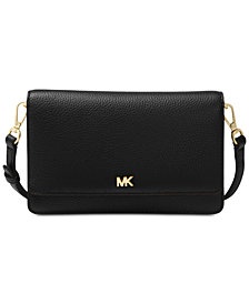 MICHAEL Michael Kors Pebble Leather Phone Crossbody Wallet