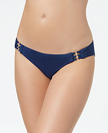 Roxy Softly Love Hardware Hipster Bikini Bottoms