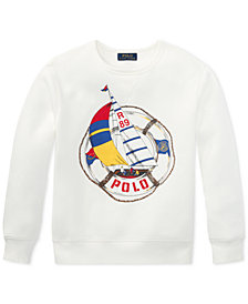 Polo Ralph Lauren Big Boys CP-93 Crew-Neck Fleece Sweatshirt