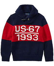 Polo Ralph Lauren Toddler Boys CP-93  Shawl-Collar Cotton Sweater