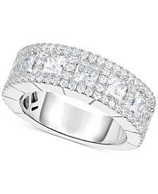 Arabella Swarovski Zirconia Pavé Princess Band in Sterling Silver